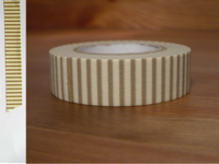 Washi Tape stripes walnut 15mm