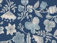 Winter flower blue double gauze