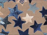 Wachstuch Denim Star beige