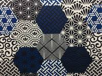 Japanese Patchwork (Canvas) blue