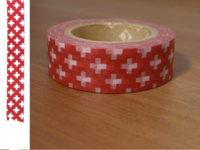 Washi Tape cross red 15mm