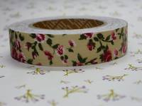 Fabric Tape antique flower ivory 15mm