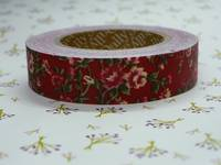 Fabric Tape antique flower red 15mm