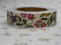 Fabric Tape wild flower ivory 15mm