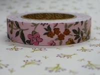 Fabric Tape wild flower pink 15mm