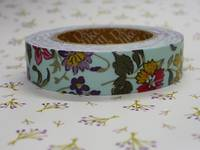 Fabric Tape wild flower sky blue 15mm