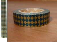 Washi Tape diamond green 15mm