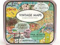 Sticker Vintage Maps