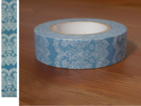 Washi Tape lace blue 15mm