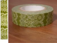 Washi Tape lace green 15mm