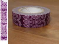 Washi Tape lace plum 15mm