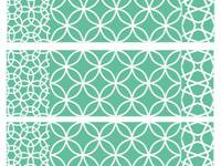Washi Tape line pattern green 15mm