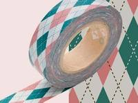 Washi Tape Argyle pink 15mm