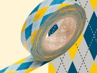 Washi Tape Argyle yellow 15mm