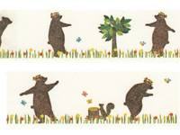 Washi Tape mt ex Kasaneru - Bear & Squirrel 30mm