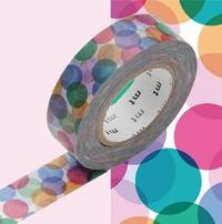 Washi Tape Spot red 15mm