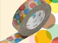 Washi Tape Spot yellow 15mm