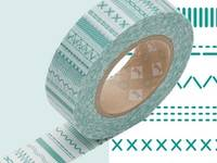 Washi tape Stitch green 15mm