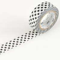 Washi Tape black dot 15mm