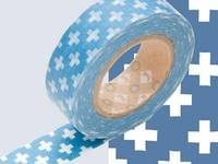 Washi Tape cross blue 15mm