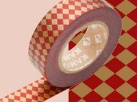 Washi Tape diamond red 15mm