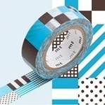 Washi Tape mix blue 15mm