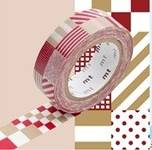 Washi Tape mix red 15mm