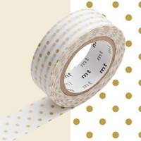 Washi Tape pin dots gold 15mm