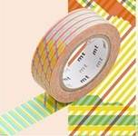 Washi Tape stripe-checked red 15mm