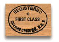 Rubber Stamp First Class