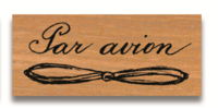 Rubber Stamp Par Avion