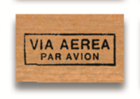Rubber Stamp Via Aerea Par Avion