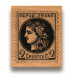 Rubber Stamp Briefmarke