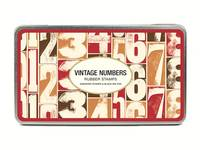 Rubber Stamps Vintage Numbers