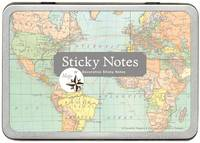 Sticky Notes Vintage Map
