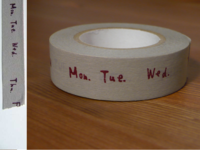 Washi Tape week gray 15mm