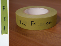 Washi Tape week green 15mm